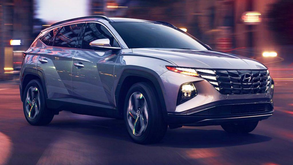 A 2022 Hyundai Tuscon.