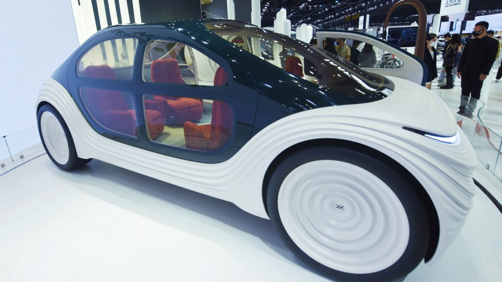The Zhiji Airo concept car is seen at the Shanghai Auto Show in Shanghai, China, April 19, 2021.