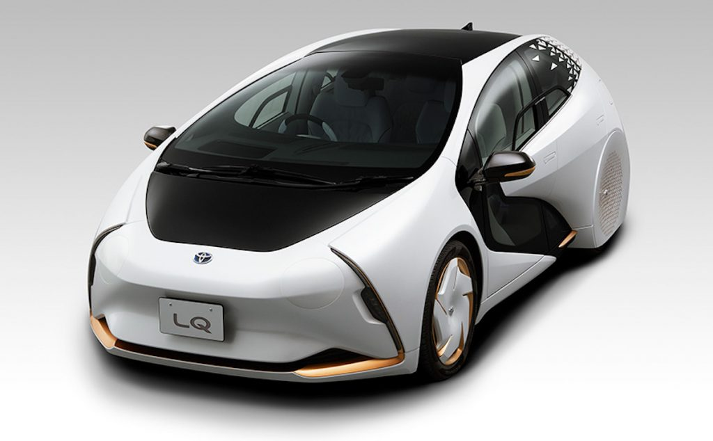 The Toyota LQ concept car was shown during the 2021 Tokyo Olympics