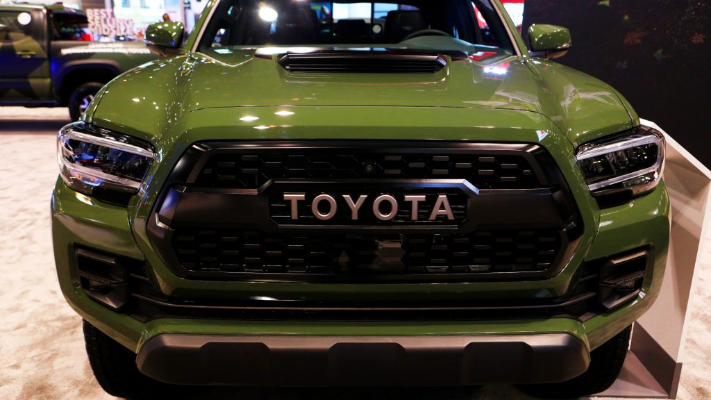 020 Toyota Tacoma is on display at the 112th Annual Chicago Auto Show at McCormick Place.