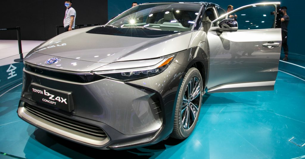 Toyota-bZ4X electric car