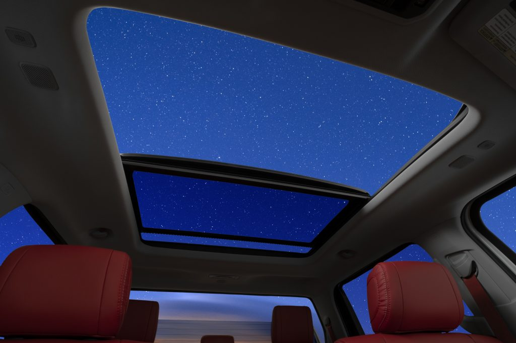 The panoramic sunroof and power rear window on the 2022 Toyota Tundra