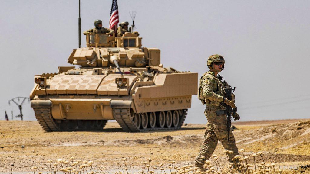 A Bradley Fighting Vehicle.