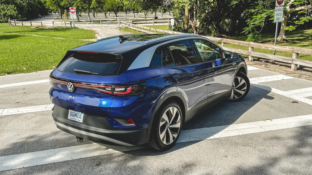 An image of a 2021 Volkswagen ID.4 parked outdoors.