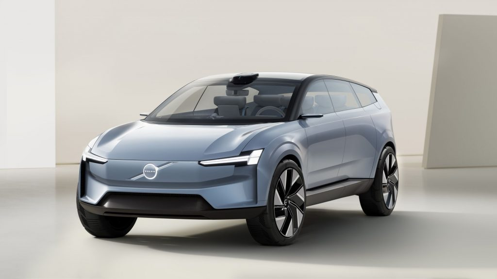 The gray-blue Volvo Concept Recharge