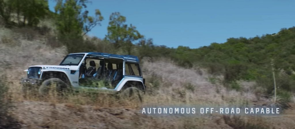 Jeep commercial for an autonomous Jeep Wrangler going off-road