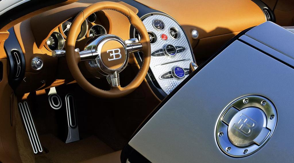 Interior of the completely restored Bugatti Veyron Grand Sport