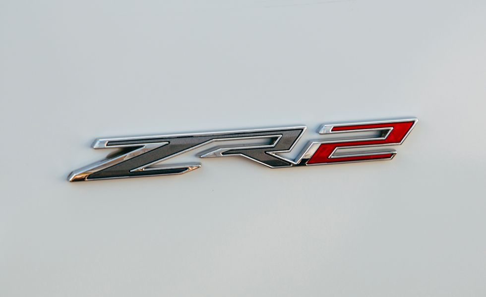 The 2022 Chevy Silverado Z2R badge