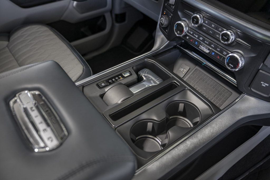 The folding gear selector in the new F-150