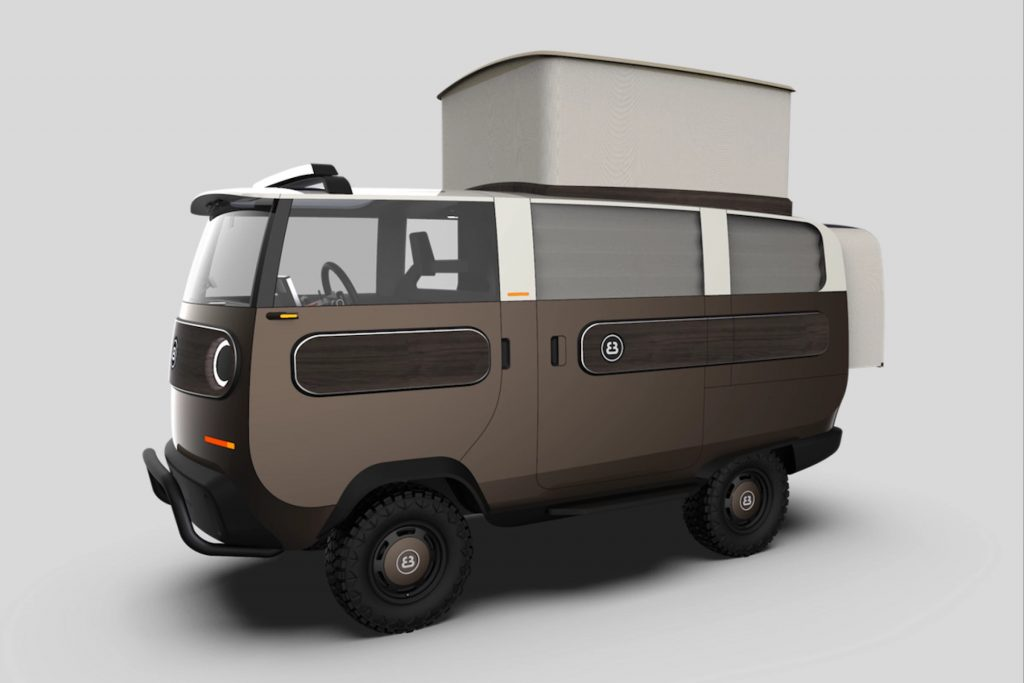eBussy modular camper van rendering