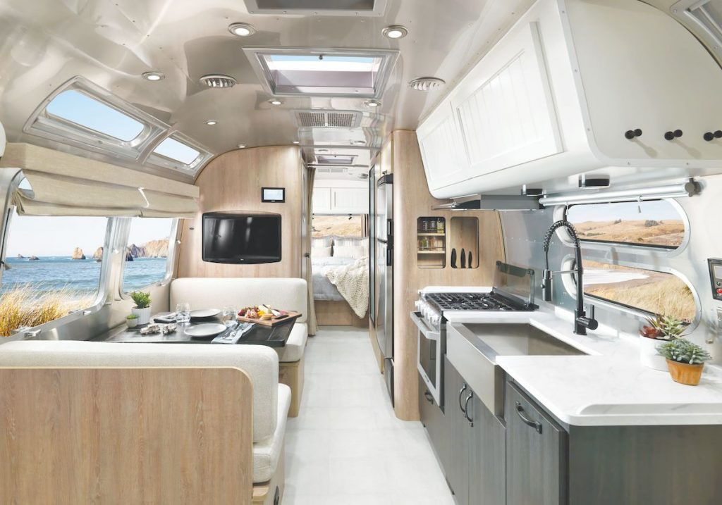 Airstream Pottery Barn Travel Trailer interior