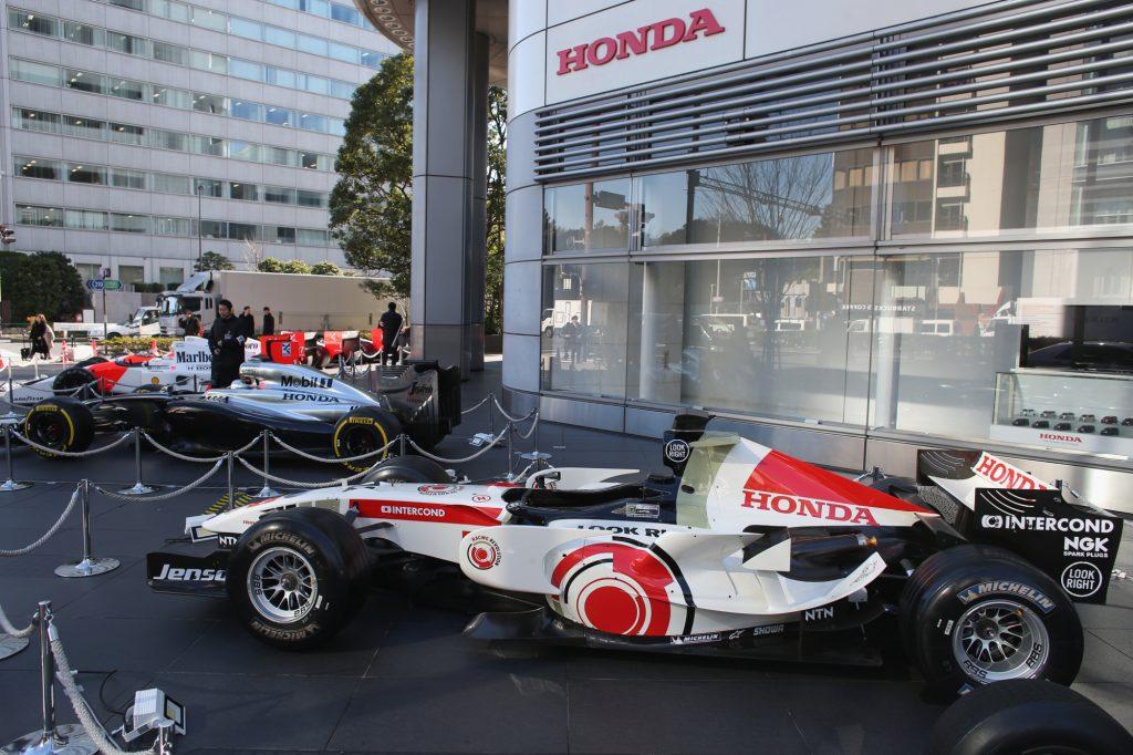 Honda's RA106 Formula 1 car at the Bonneville Salt Flats