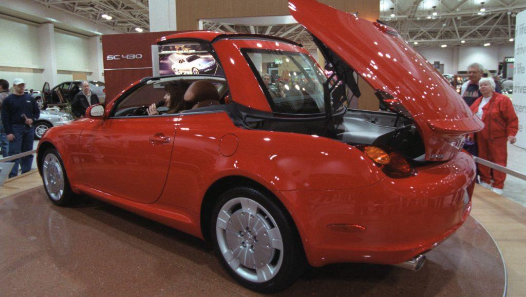 Lexus SC 430, a hardtop convertible, where the top folds into the trunk.