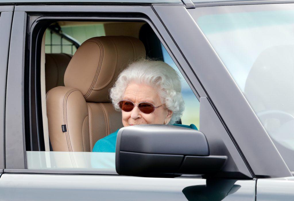 Queen Elizabeth II was seen driving her Range Rover.
