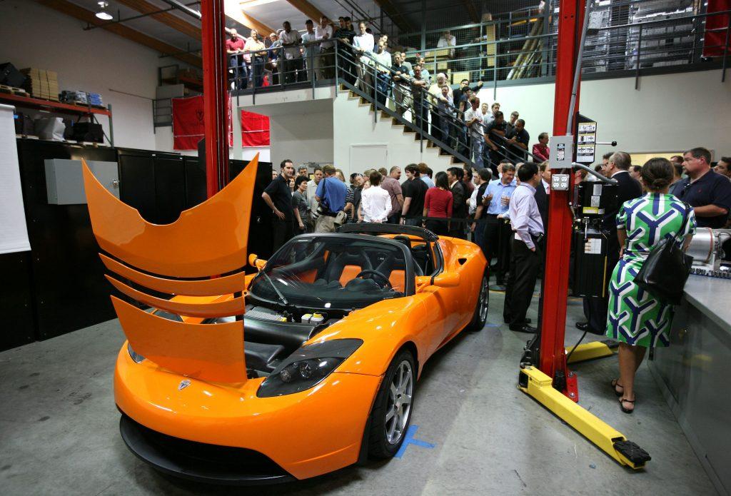 tesla roadster tesla electric sports car
