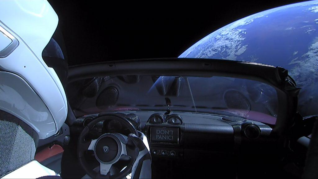 Tesla Roadster Tesla electric sportscar in space