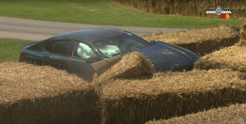 The M8 GC in the hay bales at Goodwood
