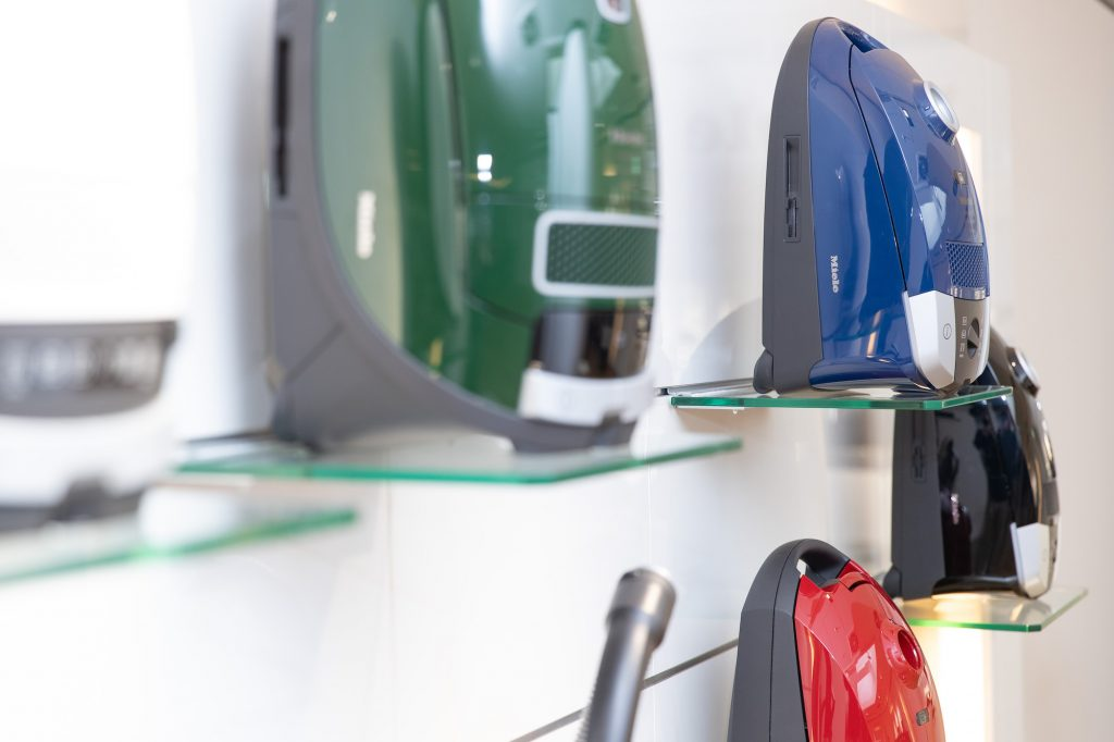 Miele vacuum cleaners in a showroom in May 2019