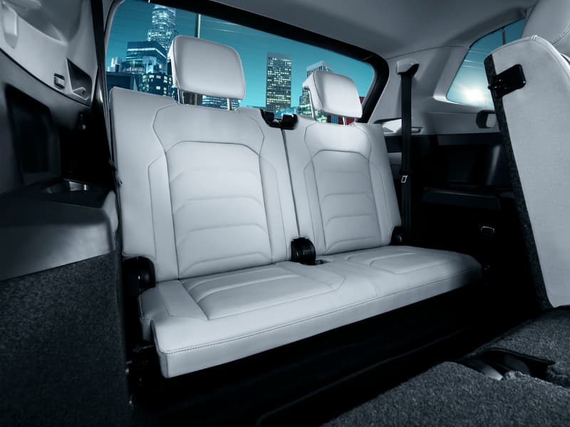 The third-row seating in a Volkswagen Tiguan