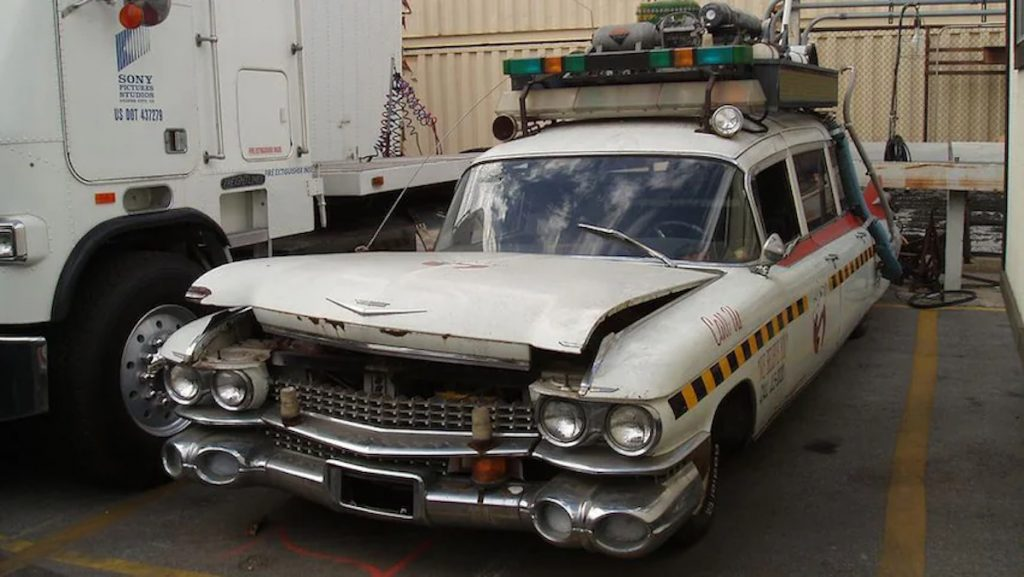 the original ecto-1 in a state of disrepair