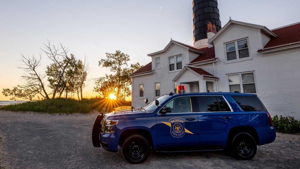 State trooper cop cars Tahoe
