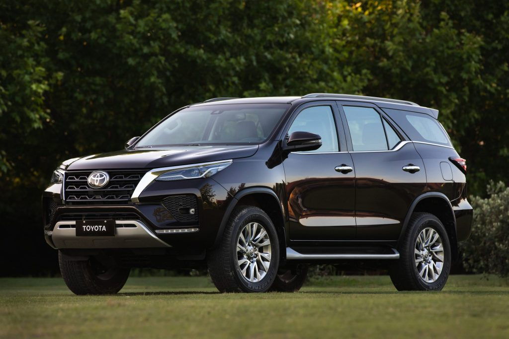 Toyota's Hilux-based SUV seen here in black