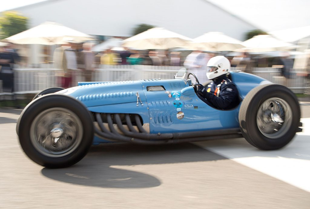 A blue 1948 Talbot-Lago 25C at the 2015 Goodwood Revival