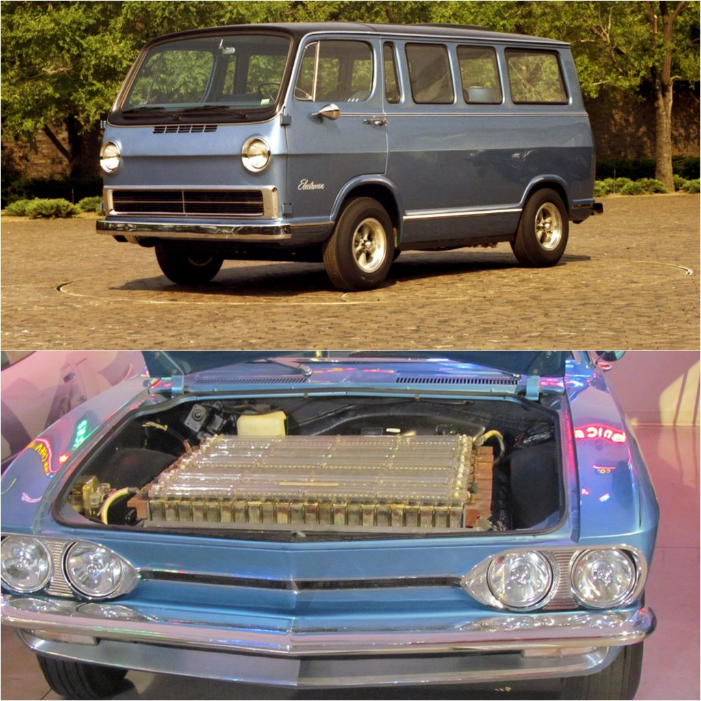 1966 Electrovan and 1964 Chevy Electrovair