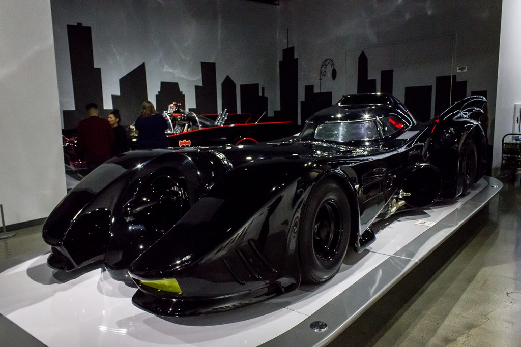 """The 'Batmobile' from the 1989 film """"Batman."""" Seen here on display in a movie cars exhibit."""