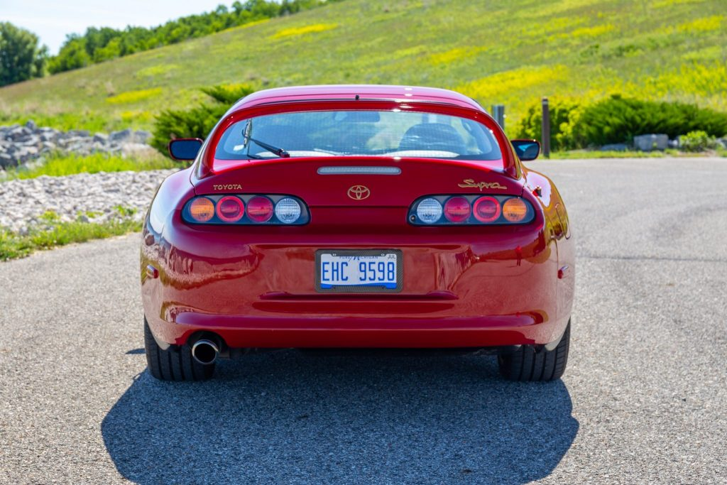 The basket-handle rear wing of the MKIV Supra