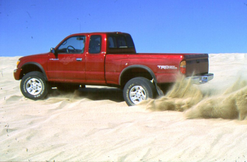 Toyota Tacoma Pre-Runner in the sand