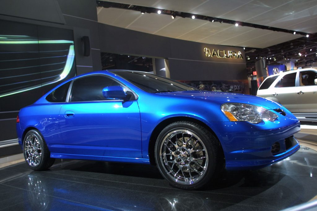 The Acura RS-X is on display at the North American International Auto Show.