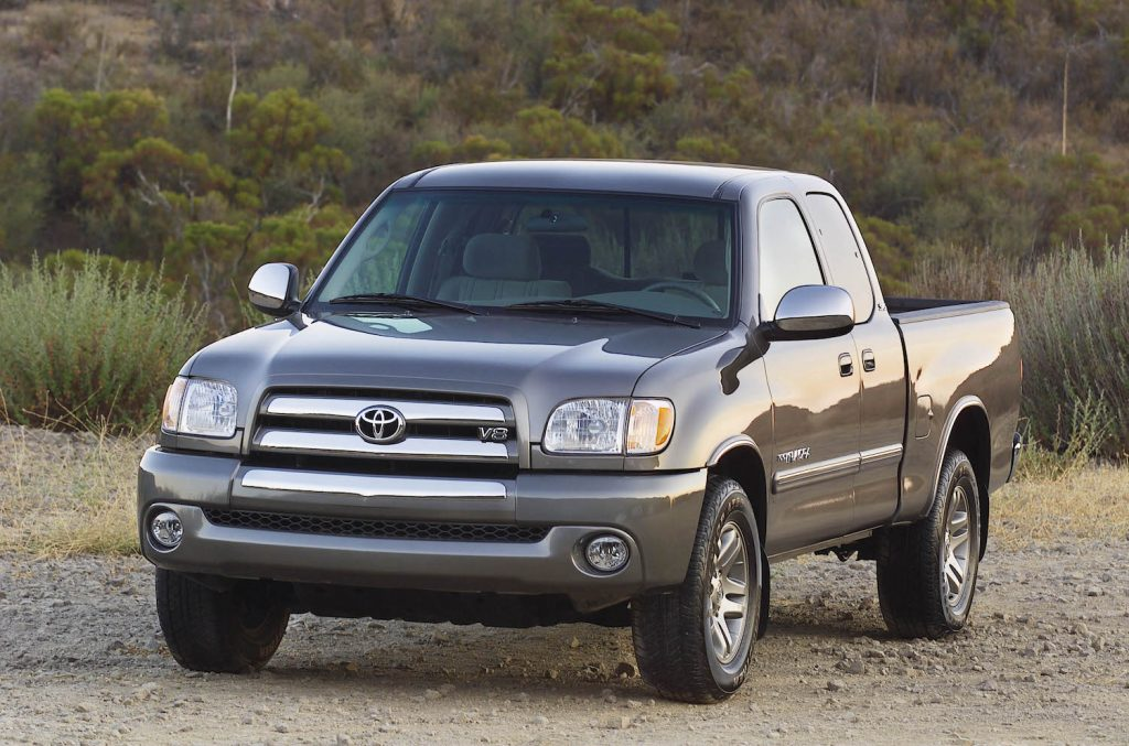 A grey 2003 Toyota Tundra parked outdoors, the 2003 Toyota Tundra is a used Toyota truck