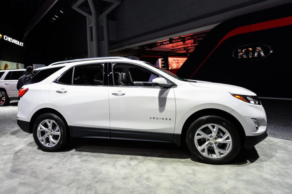 A Chevy Equinox on display at the New York International Auto Show in New York in April 2019. Kelley Blue Book calls it one of the best used SUVs for tall people.