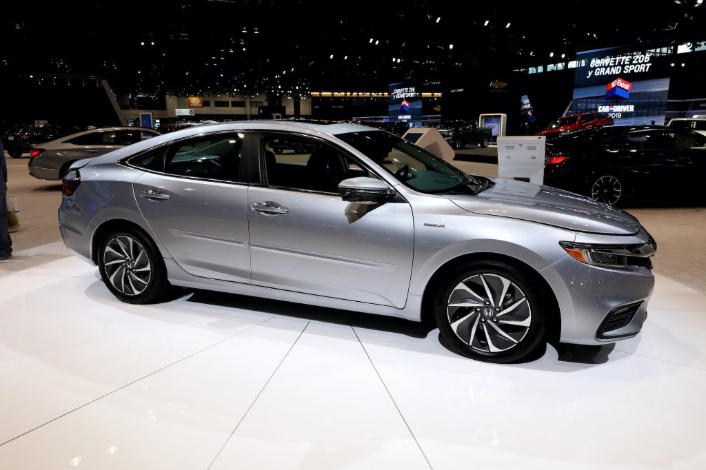 2019 Honda Insight Hybrid is on display at the 111th Annual Chicago Auto Show.