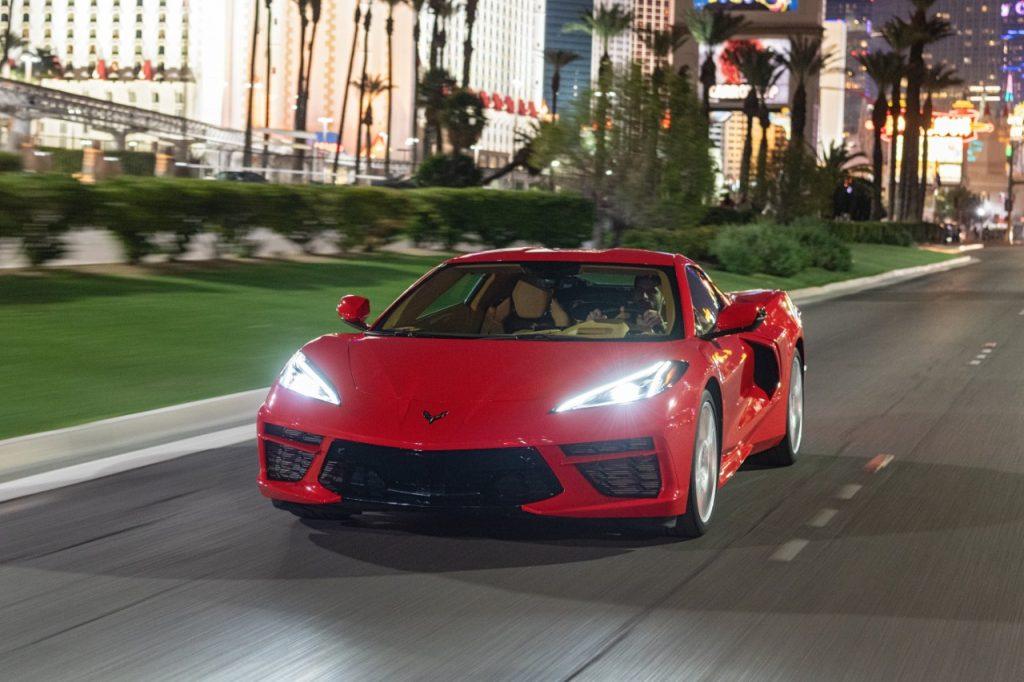2021 C8 Corvette on the street