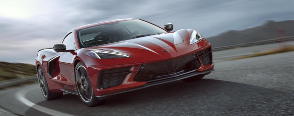 2021 C8 Corvette in red