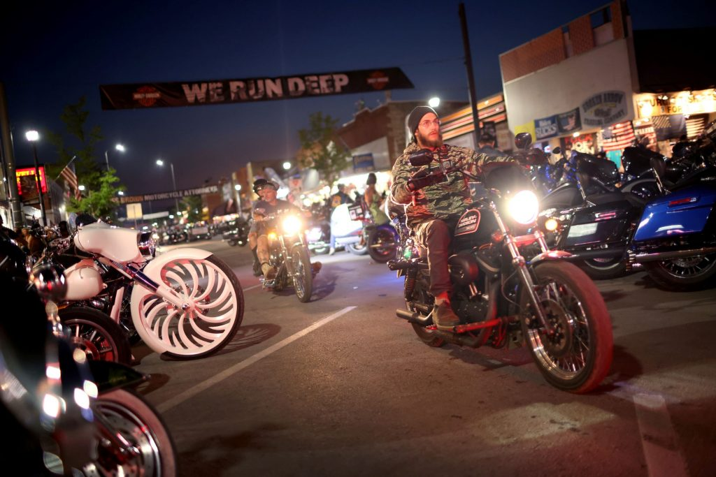 2021 Sturgis Motorcycle Rally attendees and their motorcycles