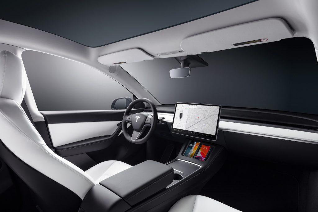The interior of the 2021 Tesla Model Y