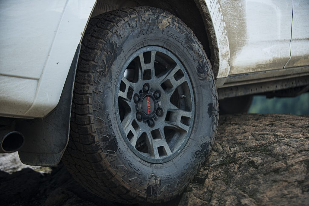 A close up of the 2021 Toyota 4Runner TRD Pro's tires