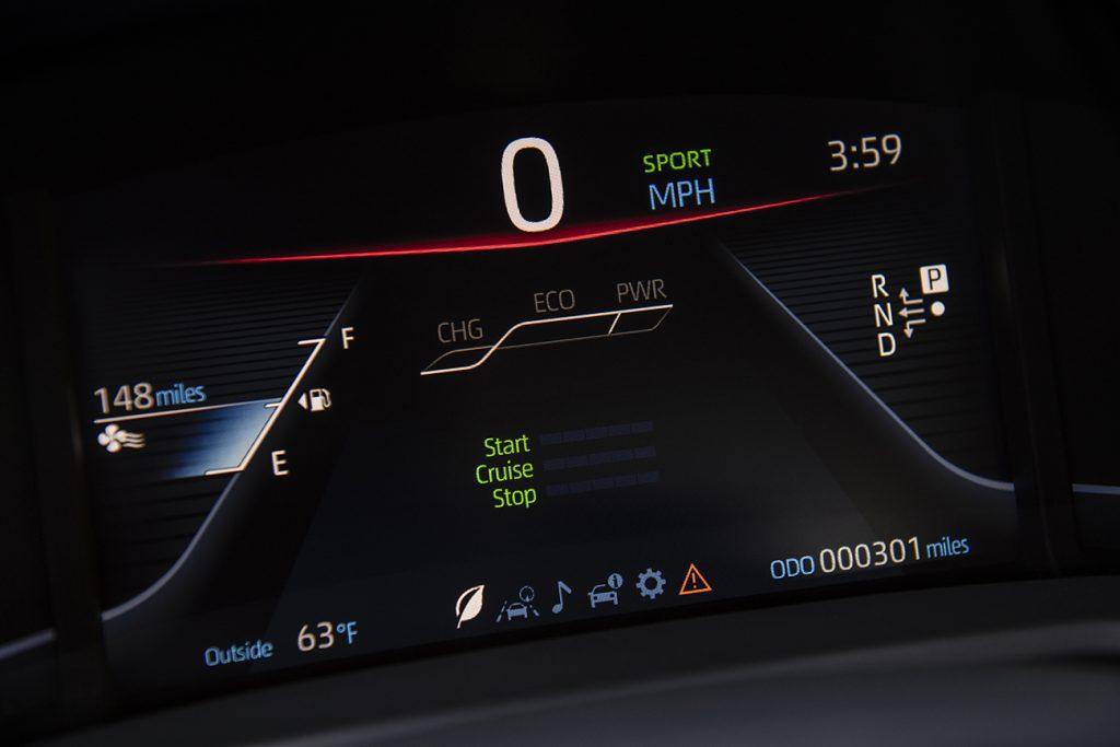 Toyota Mirai digital dashboard screen