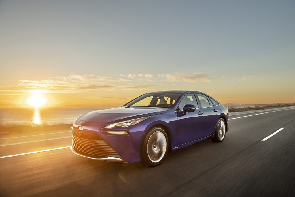 2021 Toyota Mirai hydrogen fuel cell electric vehicle