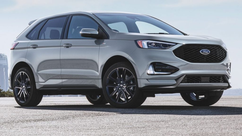 The 2021 Ford Edge parked in a lot