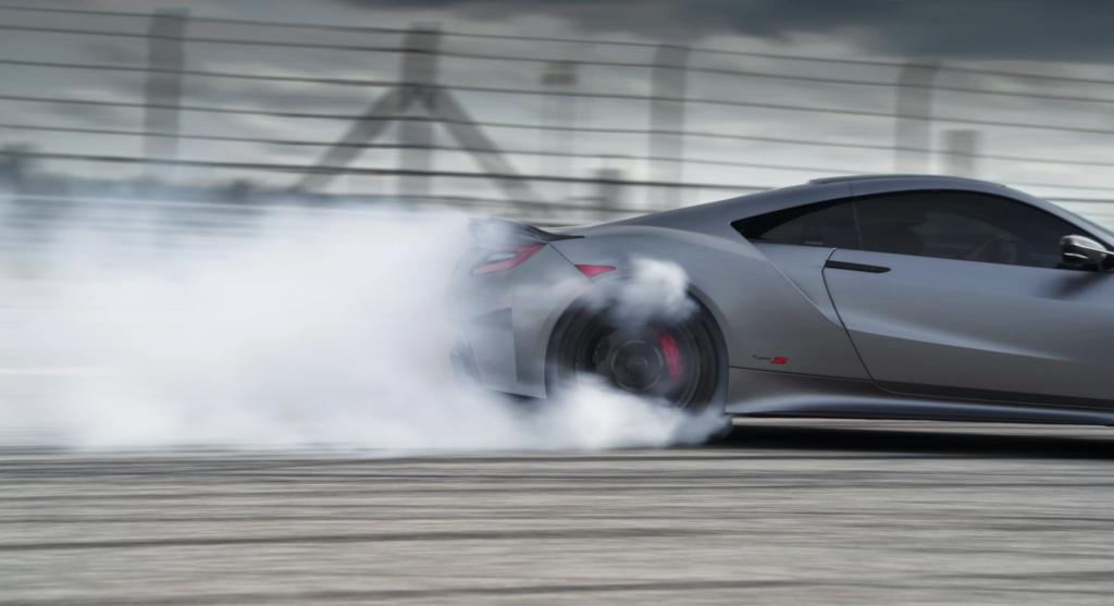 2022 Acura NSX Type-S tease doing smoky burnout