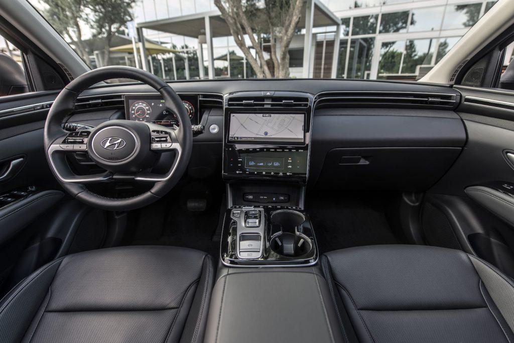 The interior of the 2022 Hyundai Tucson