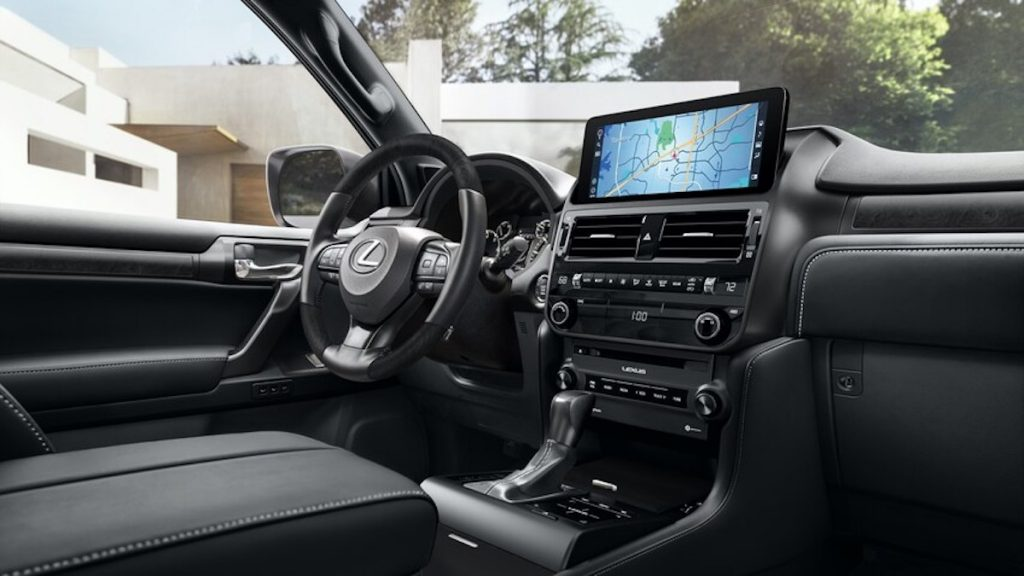 The new Lexus GX interior showing the newly designed infotainment screen