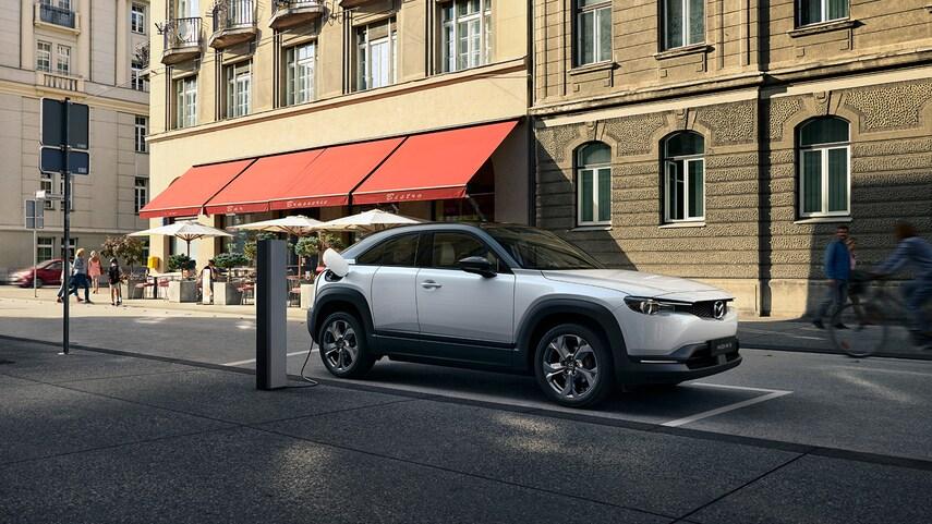The 2022 Mazda MX-30 EV charging