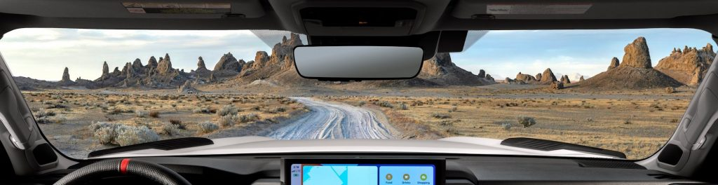 View from the new Tundra's driver seat