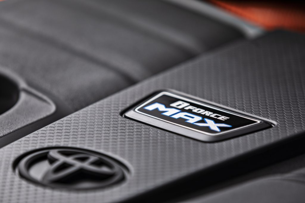 The iForce MAX Badge inside a 2022 Toyota Tundra full-size pickup truck