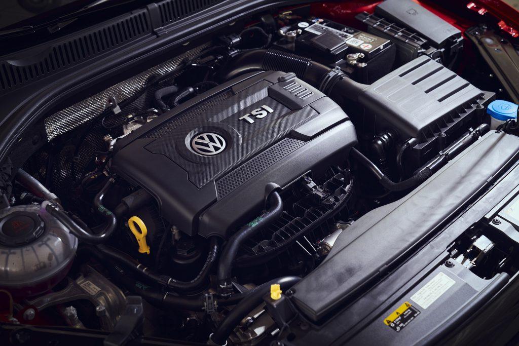 2022 Volkswagen Jetta GLI engine bay.